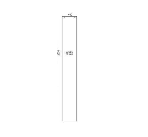 porta de correr de vidro  s/ puxador 400 x 2030