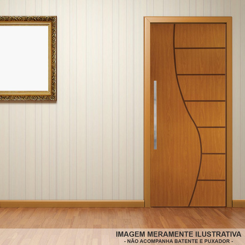 porta de madeira frisada cantareira mgm 210cmx80cm mel iewt