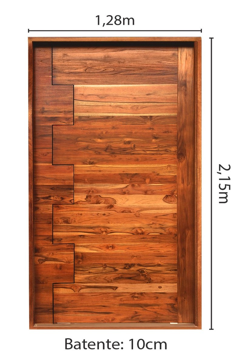 Porta de madeira maci a teca pivotante pronta p instalar for Porta 1 100