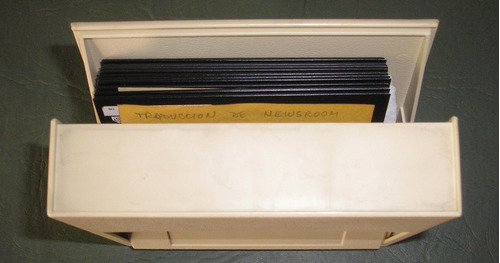 porta disketera flip n file 10 con 10 floppy disks fuji film