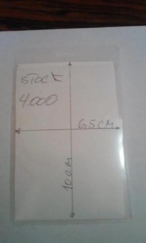 porta distintivo 60 x 100 vertical polipropileno 100 unids