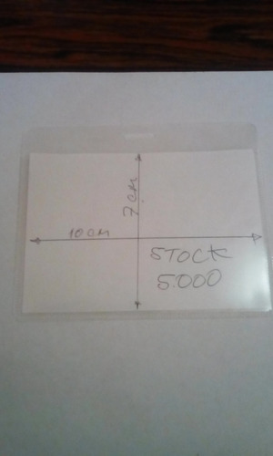porta distintivo 70 x 100 horizontal polipropileno 100 unids