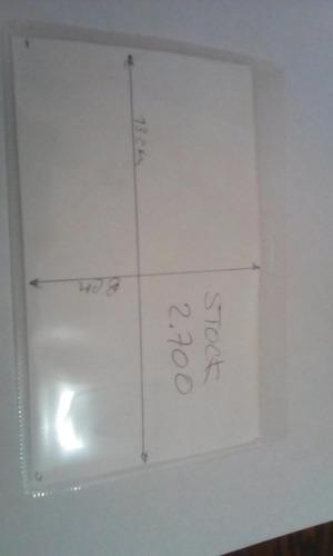 porta distintivo 9,5 x 13 horizontal polipropileno 100 unids