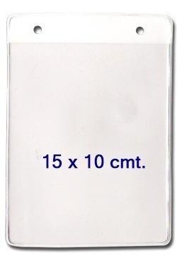 porta distintivos o porta credencial 14 x 10  pbl05 100 unid