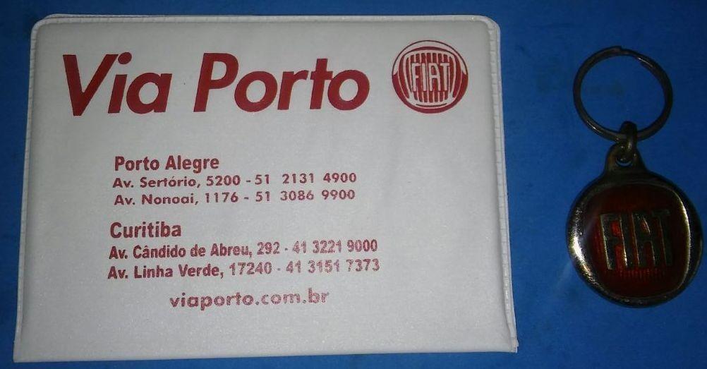 bd01f8377 Porta Documento E Chaveiro Fiat Concessionaria Via Porto - R$ 15,00 ...