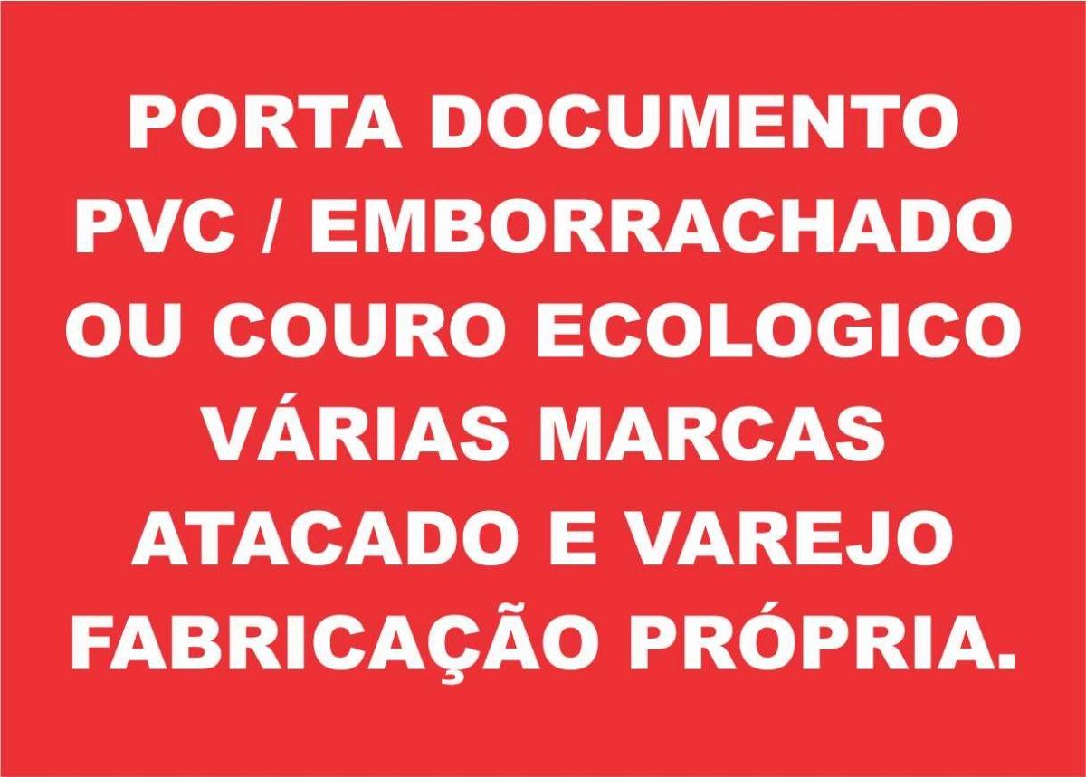c067ff5d96 porta documento em pvc   emborrachado ou couro ecologico. Carregando zoom.