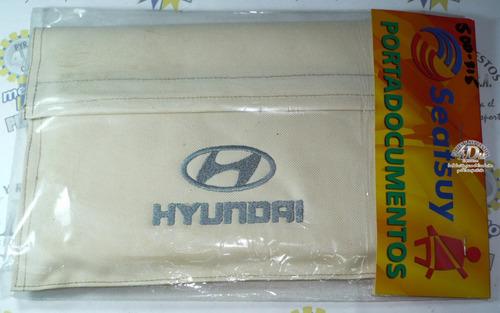porta documentos hyundai beige