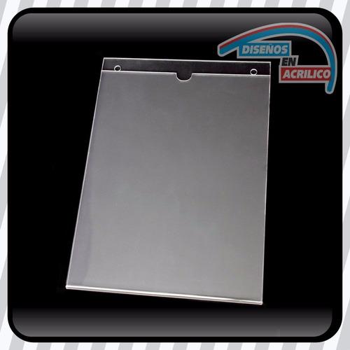 porta documentos o porta hoja tamaño carta en acrílico 3mm