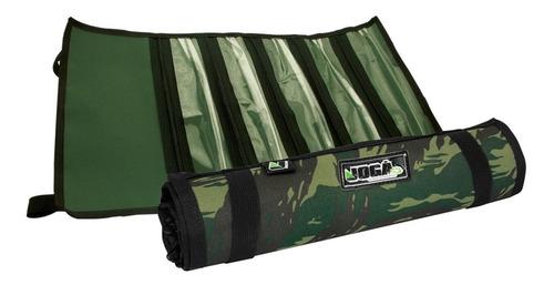 porta empate - encastoado em nylon camuflado joga - organizador de anzois 5 divisórias - pratico