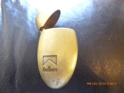 porta encendedor promocional malboro de bronce(c3