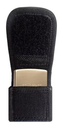 porta encendedor/yesquero zippo- nylon- clip acero- de blasi