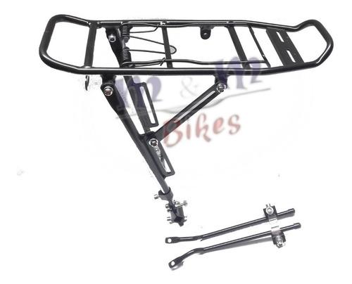 porta equipaje aluminio para bicicleta con agarre al cuadro