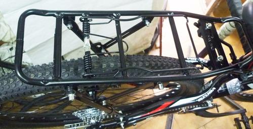 porta equipaje de aluminio p-bicicleta agarre al cuadro c-1
