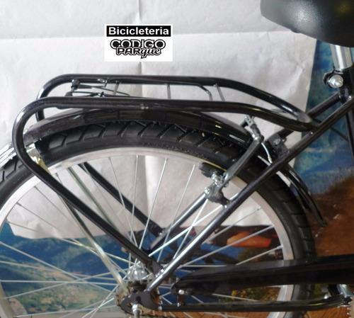porta equipaje, paquete de fierro bicicleta con trampa c-4