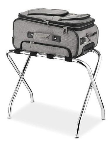 porta equipajes rack estante recamara hotel maleta, whitmor