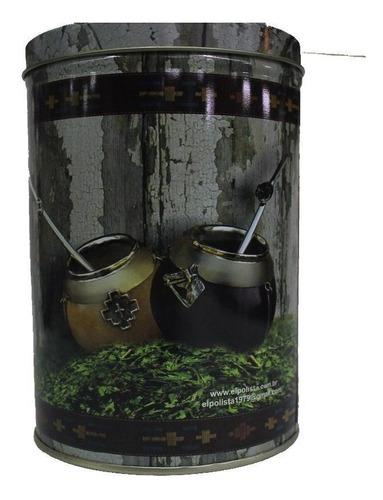 porta-erva arg lata redonda 1/2 kg