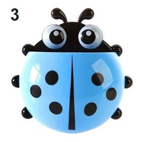 Porta Escova Joaninha De Dente Infantil Com Ventosa  Ladybug