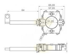porta escova motor partida empilhadeira hyster-mitsubishi