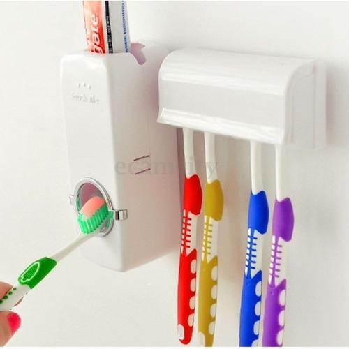 porta escova suporte dispensador creme dental pasta dente.