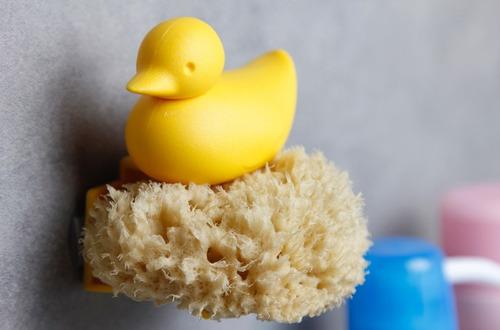 porta esponja pato