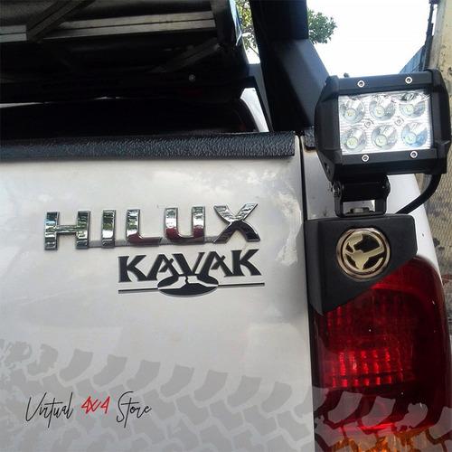 porta faros/ antena ecotechne hilux silverado bt50 meru dmax