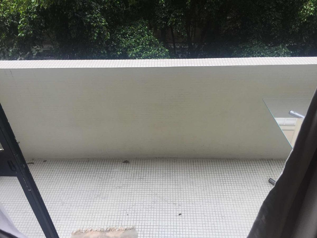 porta fechada! linda kitnet studio com sacada 41m