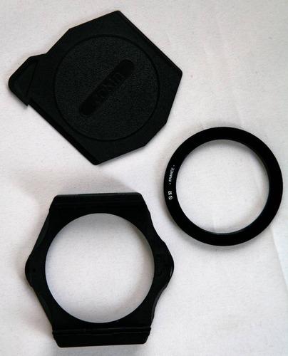 porta filtros cokin serie a+tapa+arillo 52mm
