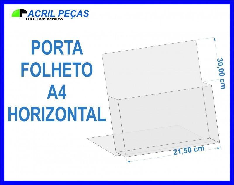 porta folheto folder de mesa tamanho a4 r 41 00 em mercado livre