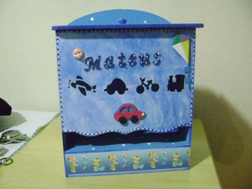 porta fraldas bebe menino personalizado