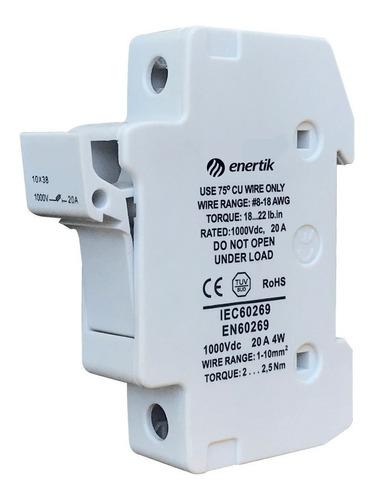 porta fusible solar gpv 1000vcc - enertik - cuotas s/int
