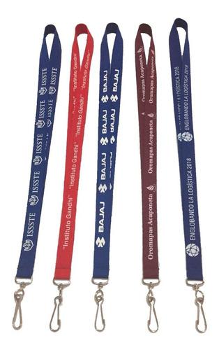 porta gafete cordon llaves lanyard personalizado