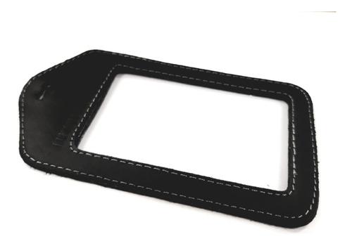 porta gafete doble vista 100% piel remove before flight