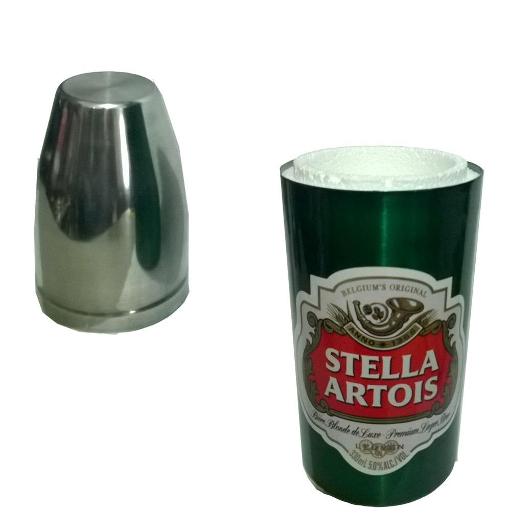 porta garrafa cerveja aluminio e isopor 600ml stella artois. Carregando zoom . 12c56964462fc