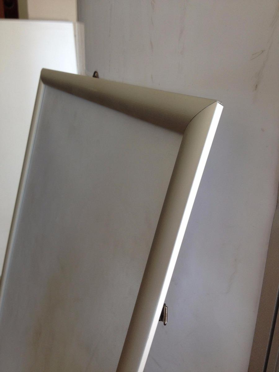 Porta Gráfica Letrero Marco Aluminio Sistema Clip Publicidad ...