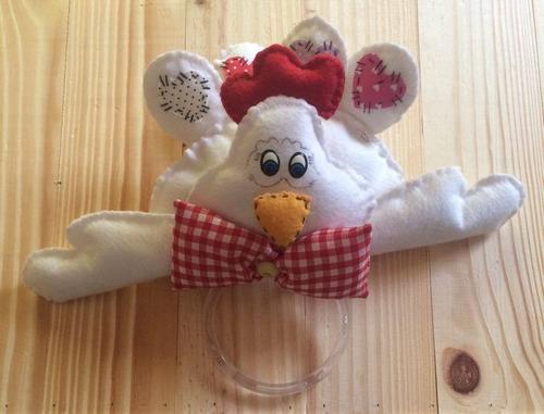 porta guardanapo artesanal galinha