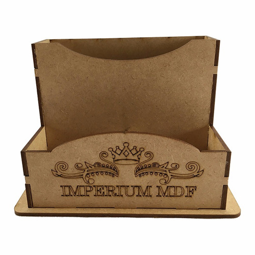 porta guardanapo sache mdf cru logo + numeração kit c/ 20pçs