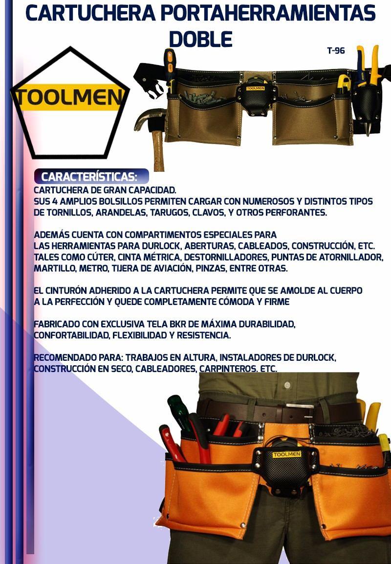 Cartuchera Porta Herramientas Toolmen T 96 El Doble Nacional ... 6dc2575fd068