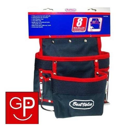 porta herramientas para cinturon 8 bolsillos best value g p