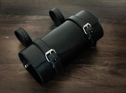 porta herramientas para motocicleta de cuero genuino alforja