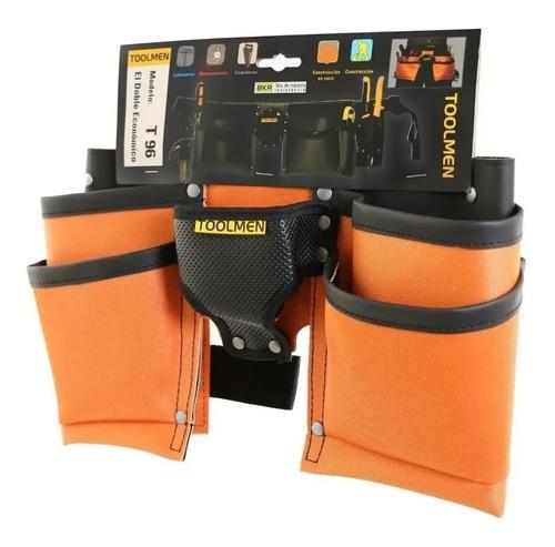 porta herramientas toolmen t96 doble con clavera y cinturon