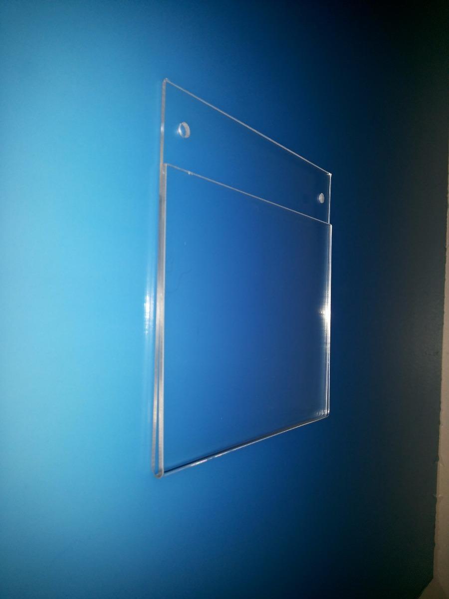 Porta hoja para pared en acr lico tama o carta horizontal for Paneles acrilicos para paredes