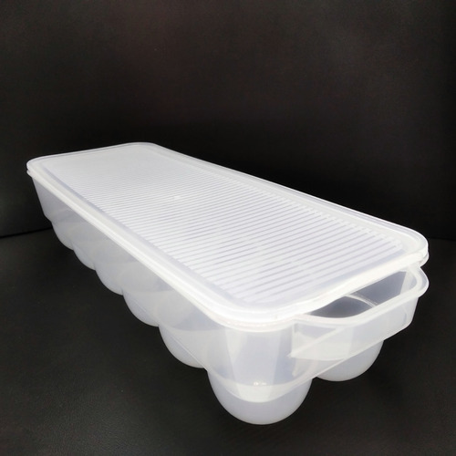 porta huevos huevera organizador c tapa p heladera  plástico