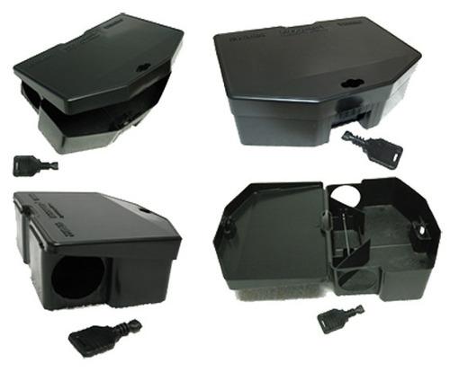 porta iscas combat rat - roedores - preto - 24 peças