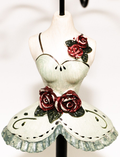porta joia, colar, pulseira, aneis, bijuterias - 27 cm