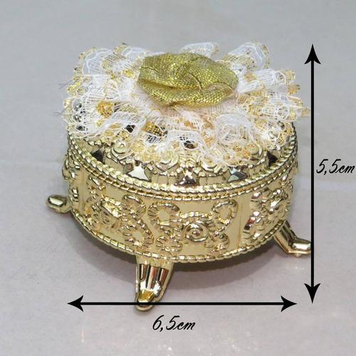 porta joia dourado  - lembrancinha - casamento kit 10 peças