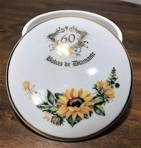 porta jóia em porcelana bodas de diamante 60 anos