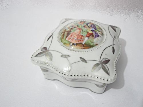 porta jóias antigo porcelana  raridade caixa decoração
