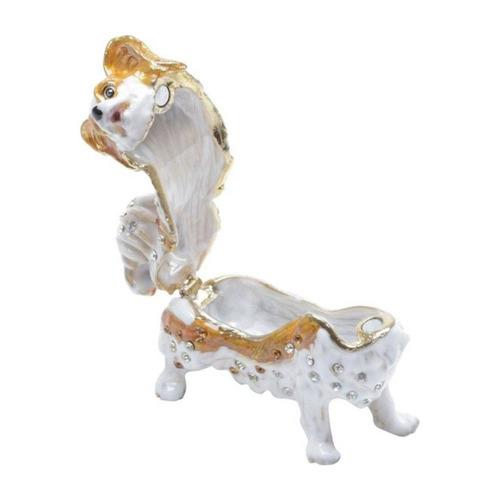 porta joias de zamac cachorro 6cmx5cmx3cm rojemac hc