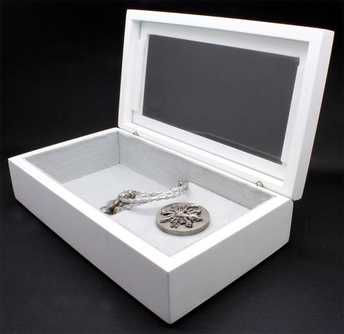 porta-jóias espírito santo madeira com pulseira de brinde!!!