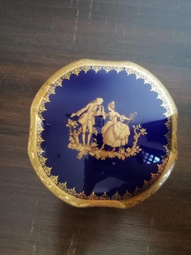 porta joias limoges francesa azul